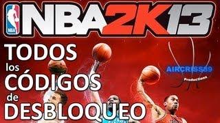 NBA2K13 - Todos los Códigos de Desbloqueo
