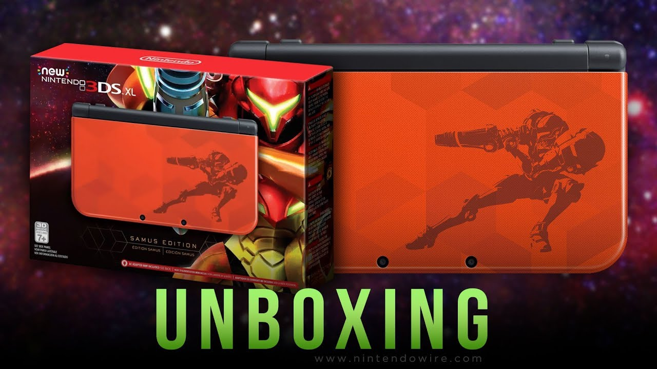 Unboxing New 3ds Xl Samus Edition Metroid Youtube Returns Special Reg Us