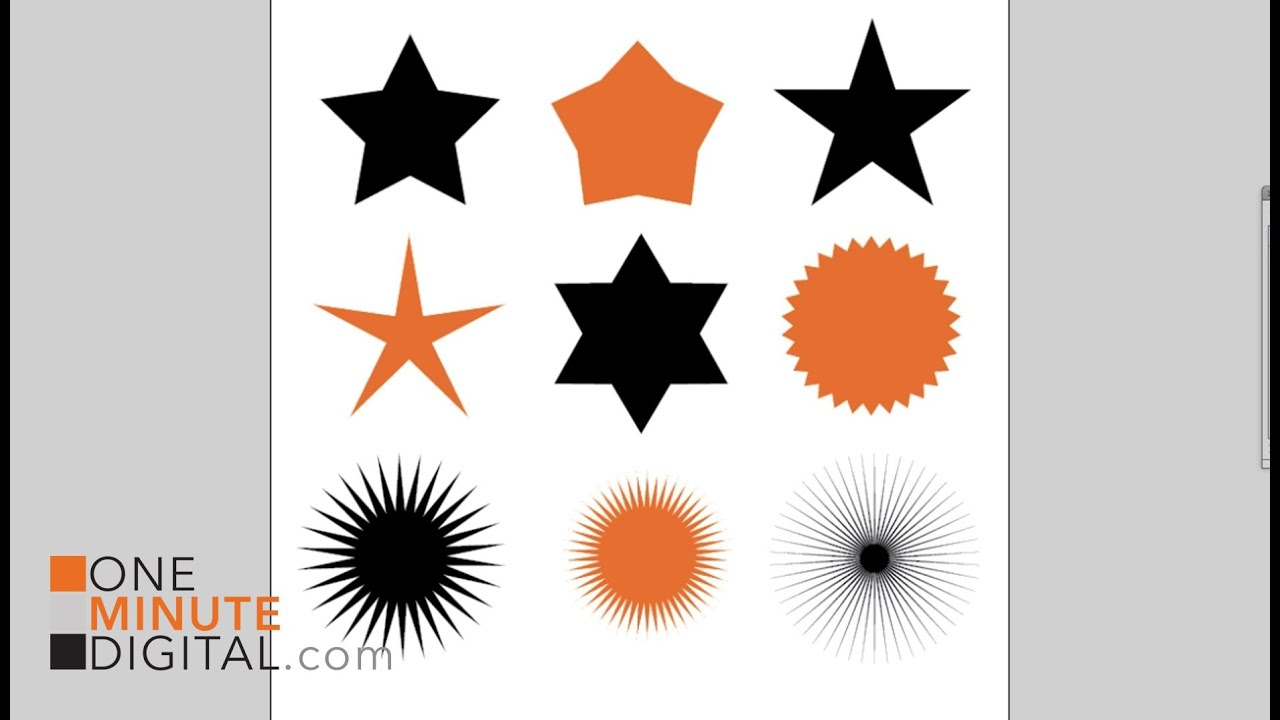 Change The Default Star Shape In Illustrator Tutorial