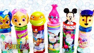 Paw Patrol  Skye, Chase, Shimmer & Shine Bubbles Bath Time with