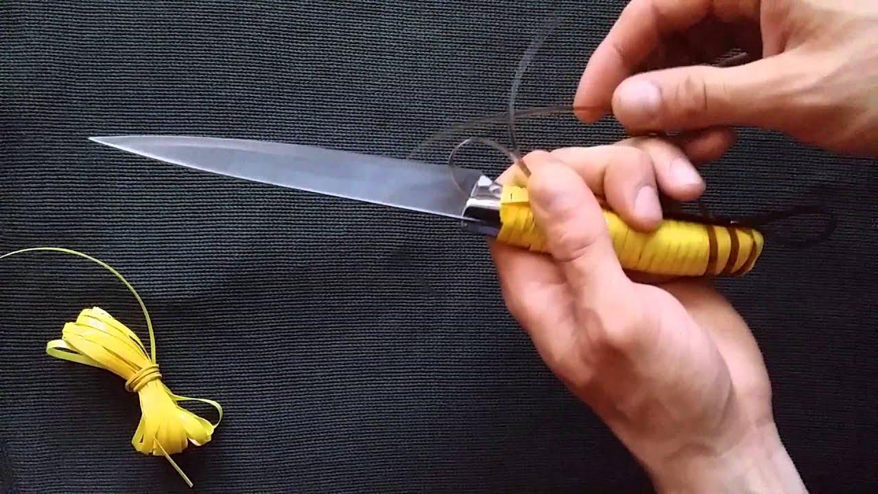 Ручка для ножа из пластика своими руками