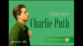 Gambar cover Charlie Puth - Atention Lyric Video