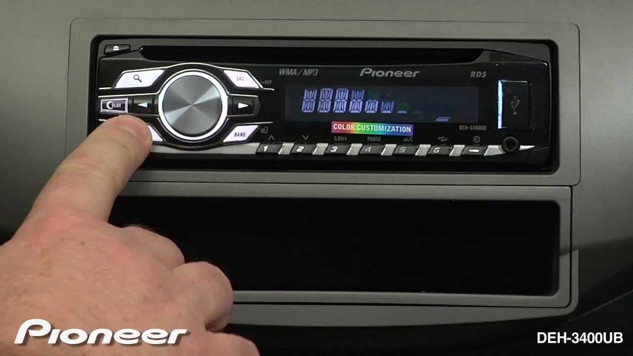 How To Deh 3400ub Rds Tuner Youtube