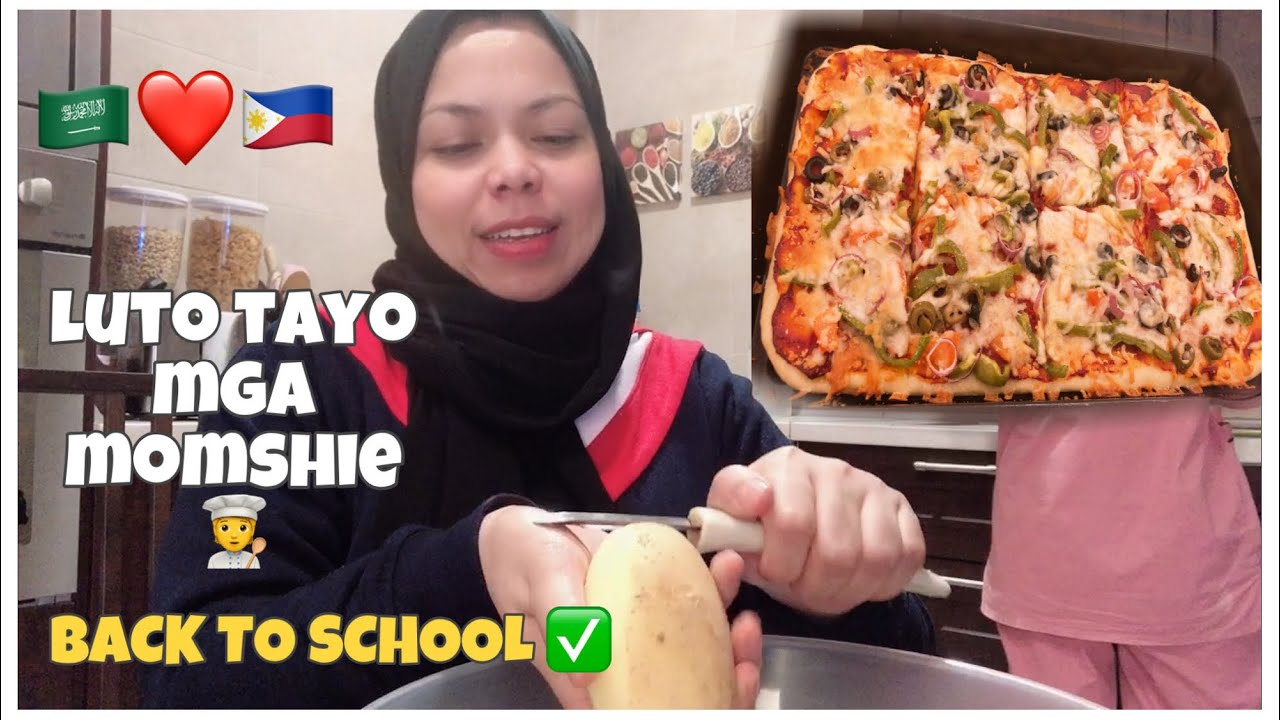 PINAY ARAB | COOKING AND MAKE PIZZA | FIRST DAY OF SECOND SEMESTER