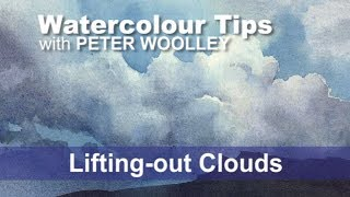 Watercolour Tip from PETER WOOLLEY: Lifting-out Clouds