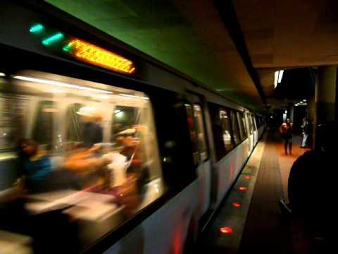 DC Metro Green Line Train Pulls into Chinatown
