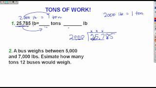 Math Conversion Involving TONS