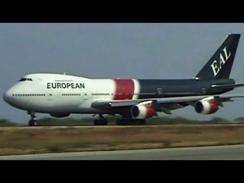 European BOEING 747-200 departs Rhodes (2001)