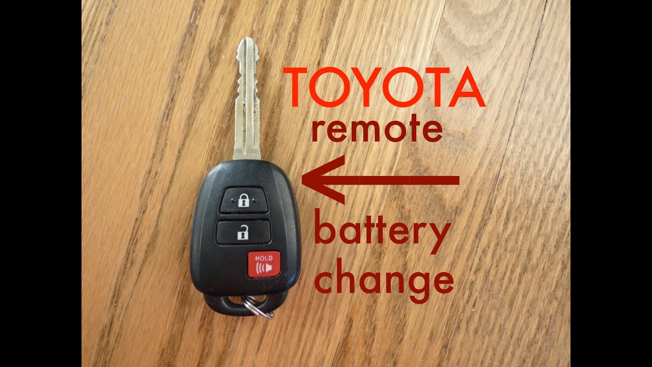 How To Toyota Key Fob Remote Keyless Battery Change Replace Youtube