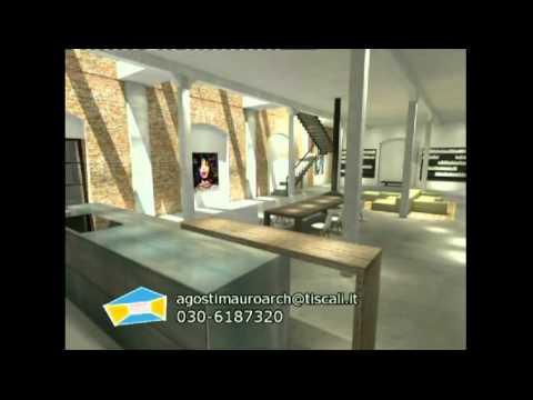 Loft 2 brescia architetto mauro agosti youtube for Architetto brescia