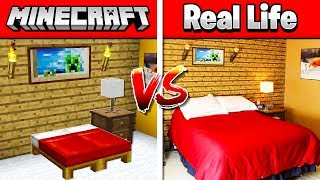 MINECRAFT ROOM vs MY REAL LIFE ROOM!