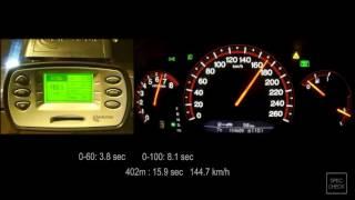 Honda Accord 7 2.4 AT Reflash + testpipe 0-100, 0-150, 0-200 racelogic acceleration, 402m