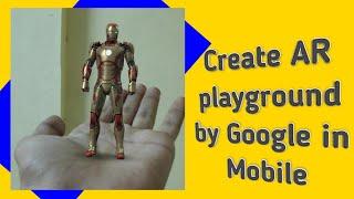 wie zum erstellen von AR-Grafik in mobile (తెలుగులో) ||google Spielplatz || Arcore||Sumanthtechinfo