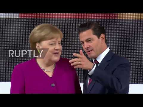 Germany: Merkel and Nieto's sporting opening to Hannover Trade Fair