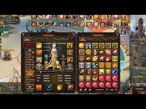 PLAYING ON A NEAR 160 MILLION B.R ACCOUNT in League of Angels 1