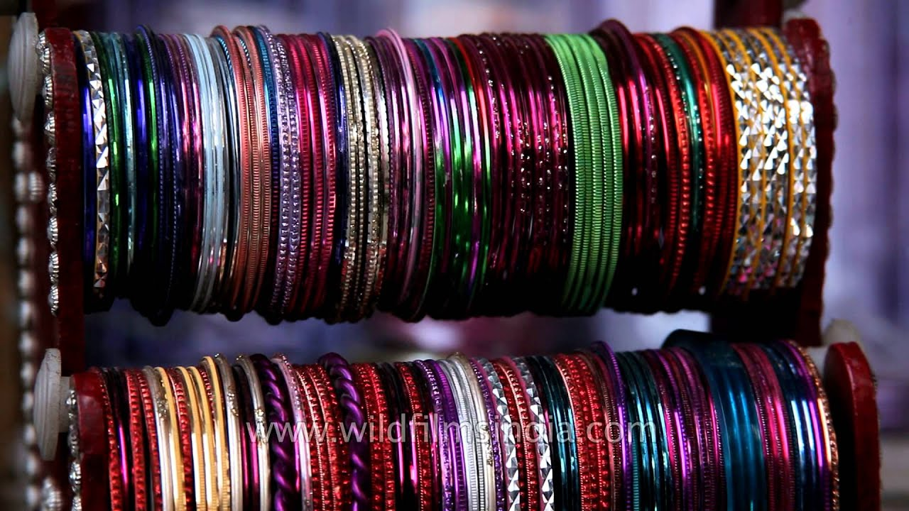 Rajasthani glass bangles for Indian women! - YouTube
