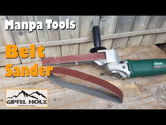 Bandschleifer für Winkelschleifer   Manpa Tools Belt Sander   Test Erfahrung und Vorstellung