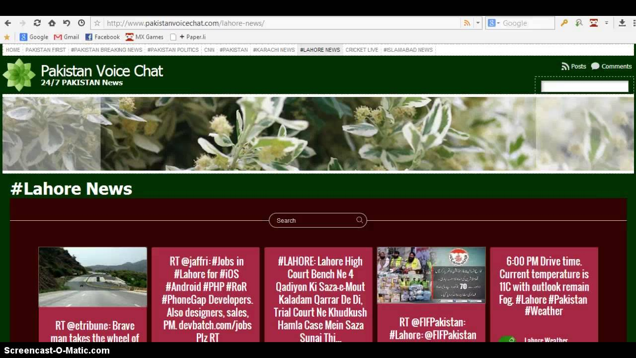 Pakistan voice chat room - 24X7 Latest News | twitter wall | facebook  |pakistanvoicechat com