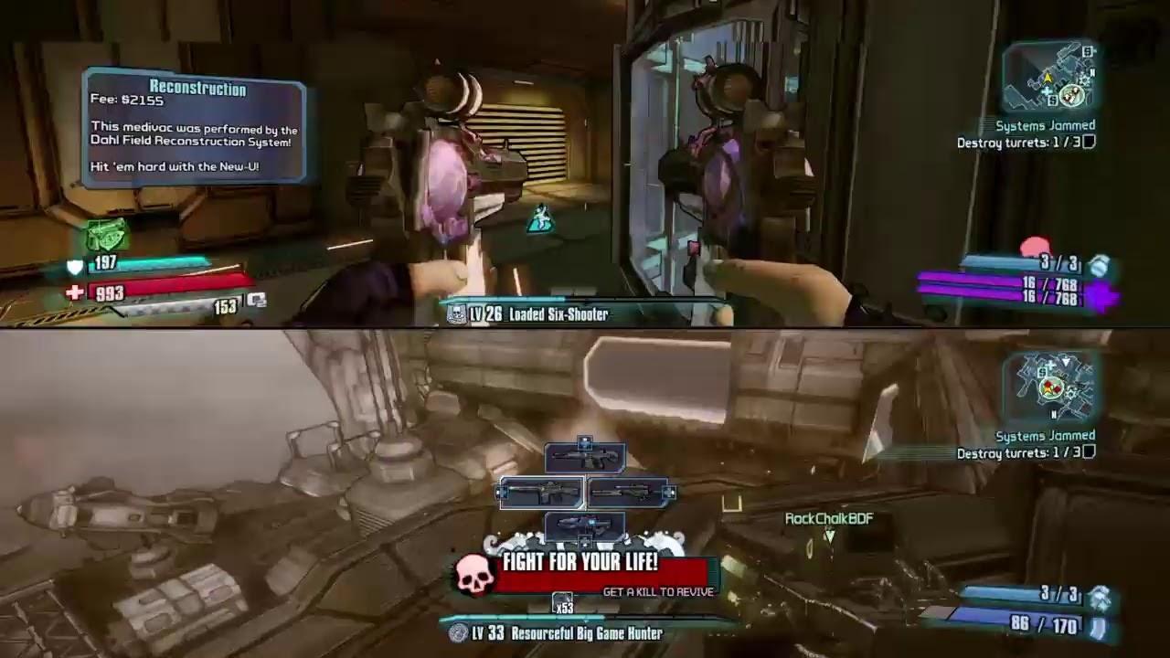 Borderlands split screen gameplay