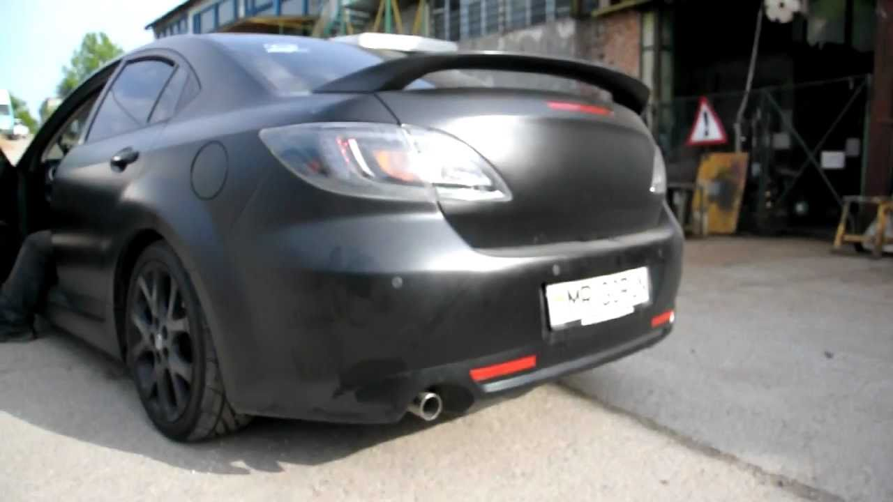 custom exhaust system mazda 6 gh 2 5l youtube. Black Bedroom Furniture Sets. Home Design Ideas