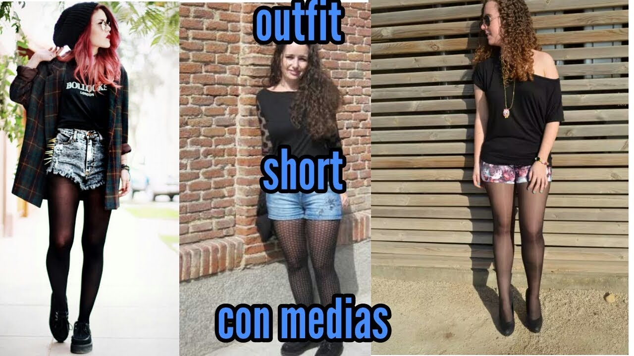 outfit with short and stockings/outfit con short y medias