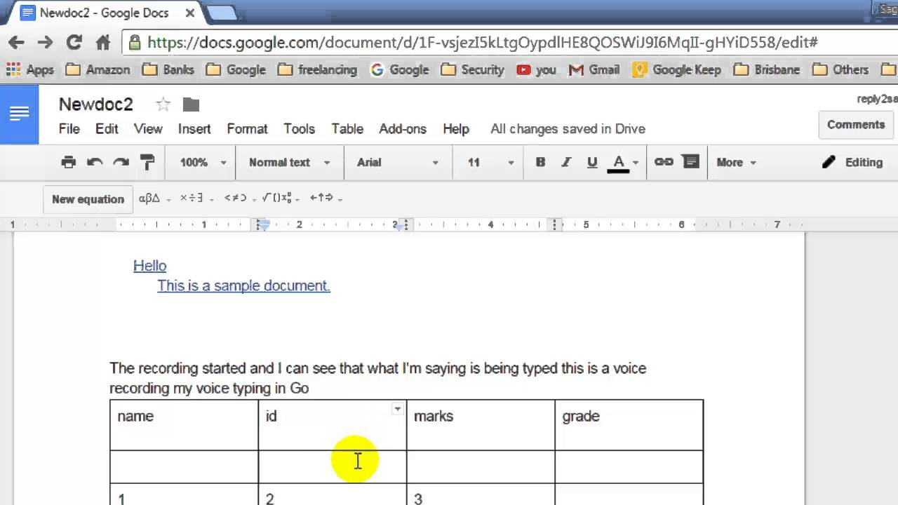 How To Insert A Column In Table In Google Docs Youtube