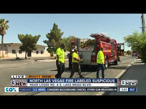 Large Fire In North Las Vegas May Have Been Set Intentionally