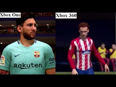 FIFA 18 - Xbox One VS Xbox 360 Atletico Madrid VS Barcelona Graphics Comparison.