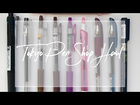 Tokyo Pen Shop Haul: Japanese Pens
