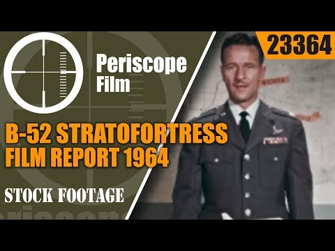 """B-52 STRATOFORTRESS FILM REPORT 1964""""FLIGHT WITHOUT A FIN"""" 23364"""