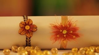 Hobby Ideas : DIY Quilling Craft - Paper Quilling Rakhi Designs