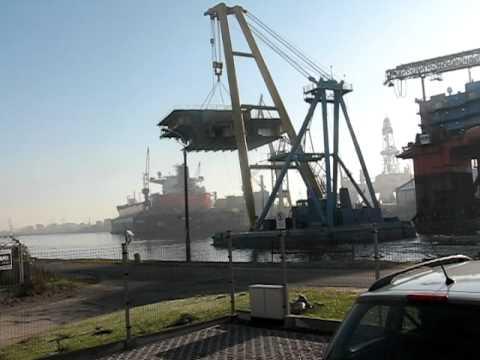 New part of Stena Britannica in Remontowa Shipyard