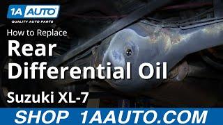 How To Service Change Gear Oil Rear Differential Suzuki XL-7 and Grand Vitara