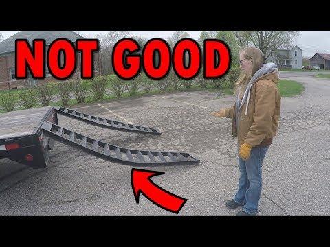 Ramps Got Bent On The Loadtrail Trailer Hot Shot