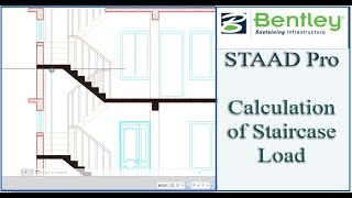 STAAD Pro Tutorial For Beginners [Episode 16]: Calculation of Staircase Load