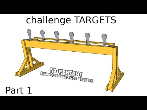 Challenge Targets DIY Auto-Reset Popper Plates - Part 1 - Building the Stand