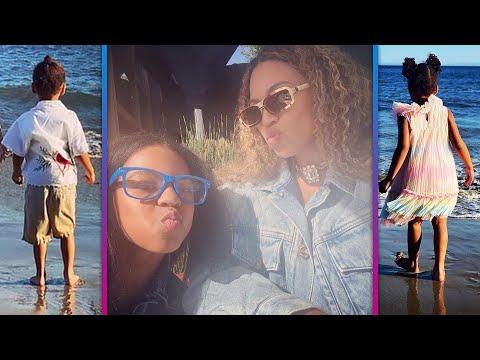 Beyonce-Shares-RARE-Photos-With-Her-Kids