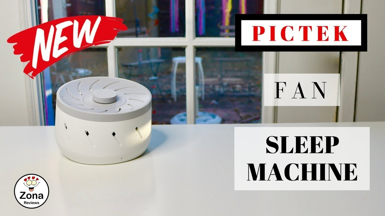 😍 PICTEK ❤️ Fan Sound White Noise Sleep Machine - Review ❤️ ✅