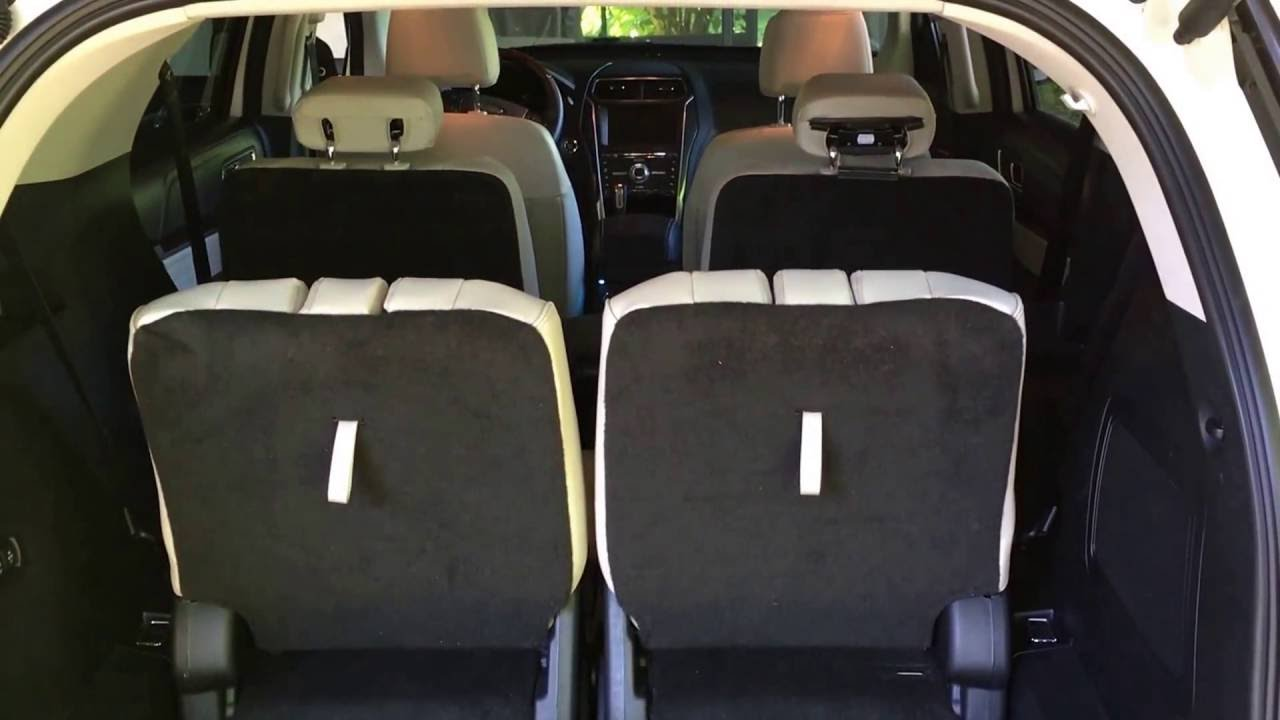 2016 ford explorer platinum stowing third row seats youtube