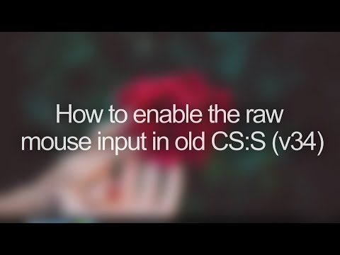 CS:S V34 Tutorial: How To Enable Raw Input For Your Mouse.