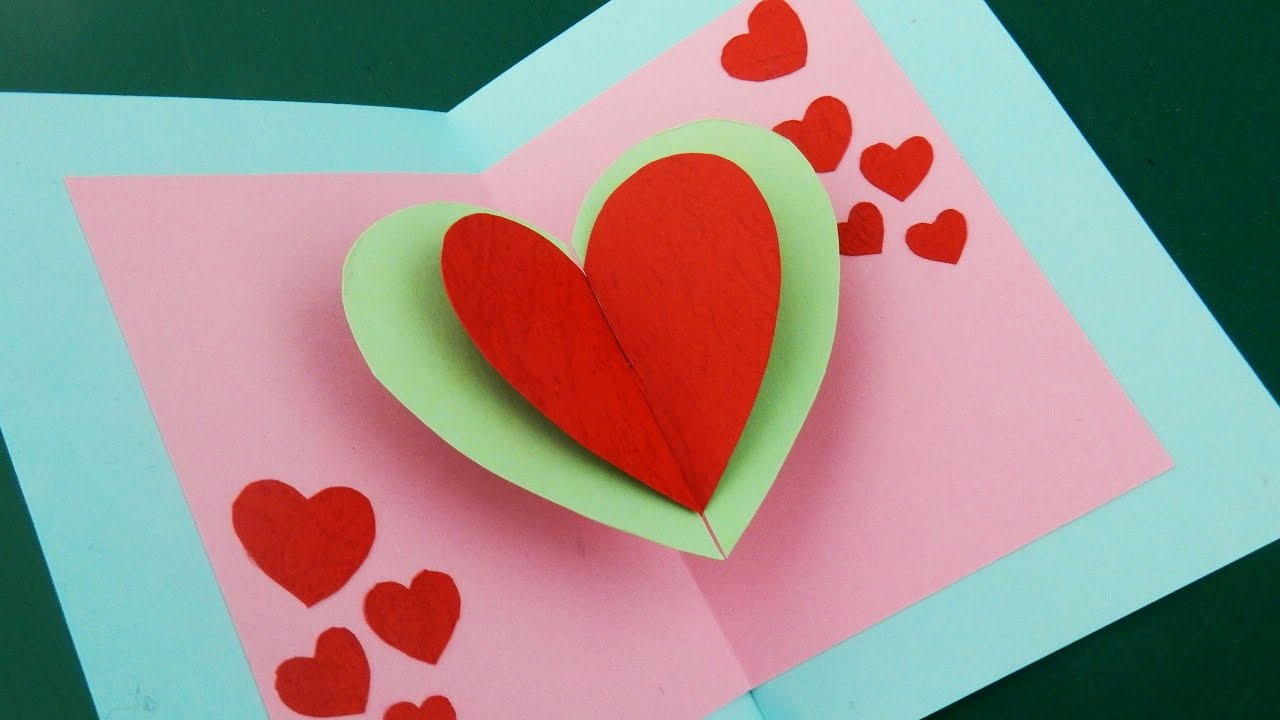 Pop up card floating heart how to make a mini greeting card with pop up card floating heart how to make a mini greeting card with a pop out heart ezycraft youtube m4hsunfo