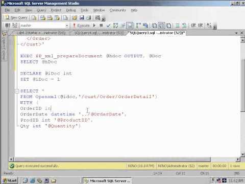SQL 2008 OPENXML Column Patterns (ColPattern) Lab 4 1