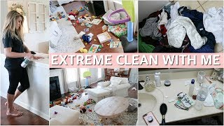 EXTREME CLEAN WITH ME   MESSY HOUSE CLEANING MOTIVATION 2019   Lauren Midgley