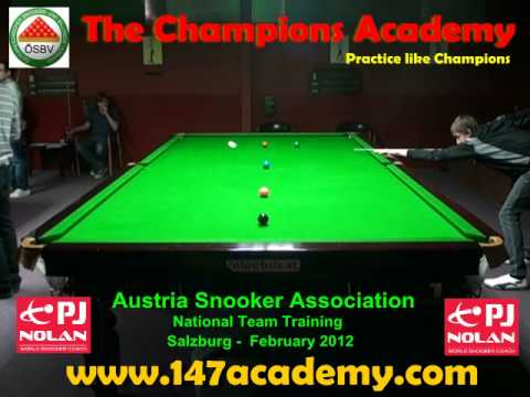 AUSTRIA BILLIARDS & SNOOKER ASSOCIATION NATIONAL TEAM TRAINING CAMP - FEBRUARY 2012