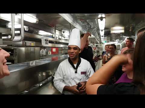 Celebrity Cruises Eclipse Galley Tour Behind the Scenes