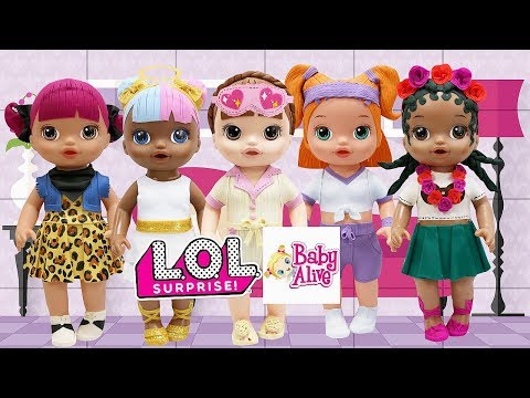 Play Doh L O L Surprise Doll Sugar Coconut Q T  Sprints Cherry Sleeping B B  Inspired Outfits