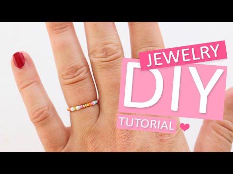 DIY Tutorial – Minimalistische ringen met Miyuki rocailles - Zelf sieraden maken