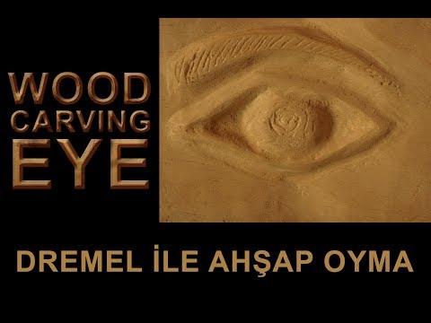 İlk Ahşap Oyma Çalışmam (Dremel Ile Ahşap Oyma Göz) Wood Carving Eye