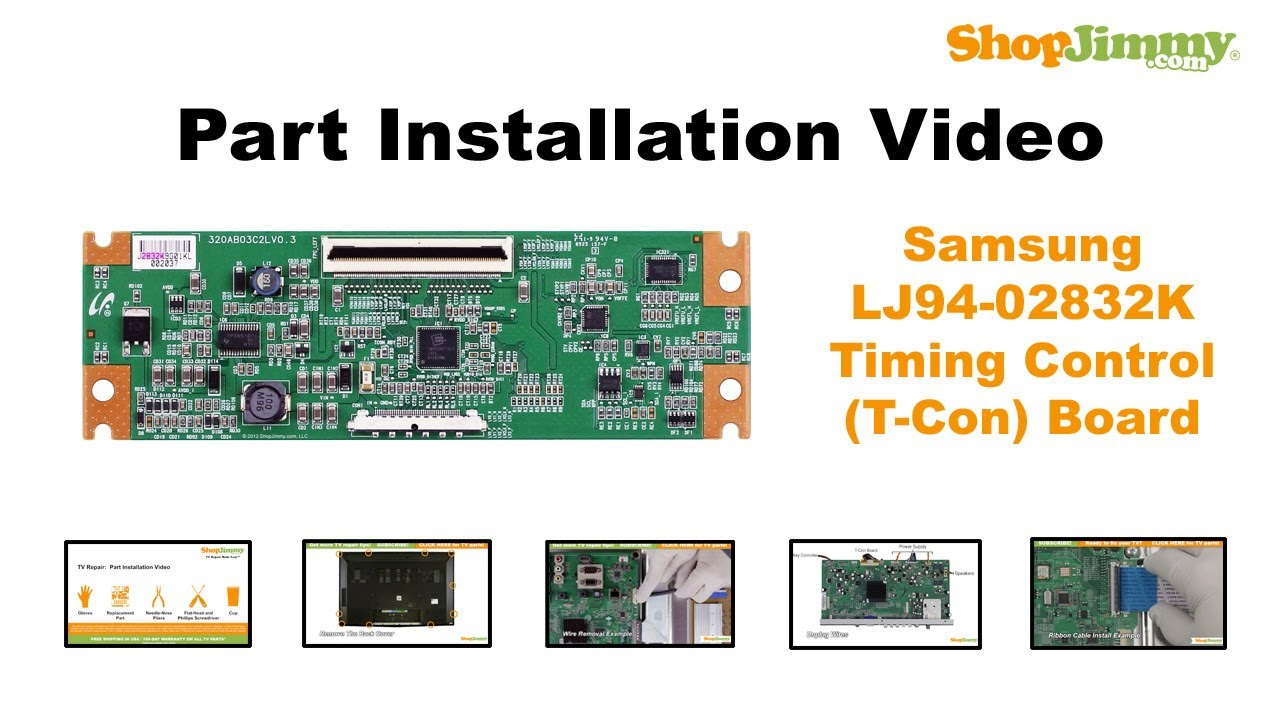 lcd tv repair samsung lj94-02832k timing control (t-con) boards replacement  guide
