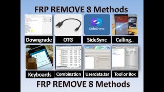 All Mobile FRP Unlock~8 Methods~Remove/Bypass Google Account of Any Mobile like samsung, motorola,